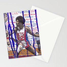 NBA PLAYERS - Julius Erving Stationery Cards