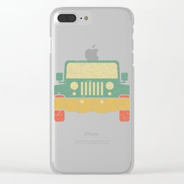 Nice Riding Tee For Riders With A Retro Illustration Of A Truck T-shirt Design Wheels Car Ride Clear iPhone Case