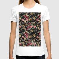 vintage flowers T-shirts featuring Vintage Flowers by Eduardo Doreni