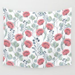 Delicate floral pattern. Wall Tapestry