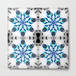 Frozen Snowflake Pattern Metal Print