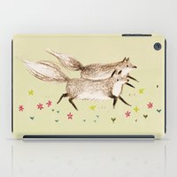 running iPad Cases featuring Running Foxes by Sophie Corrigan
