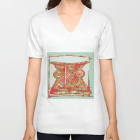 african V-neck T-shirts featuring african by Silvia Gentilini