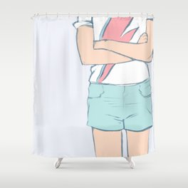Ziggy groupie for Ziggy groupies Shower Curtain