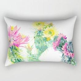 Cacti Succulents, Desert design Arizona Cacti Southwestern Art Rectangular Pillow