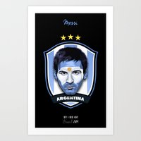 messi Art Prints featuring Messi by Rudi Gundersen
