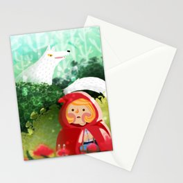 Hello Little Red Riding Hood Stationery Cards