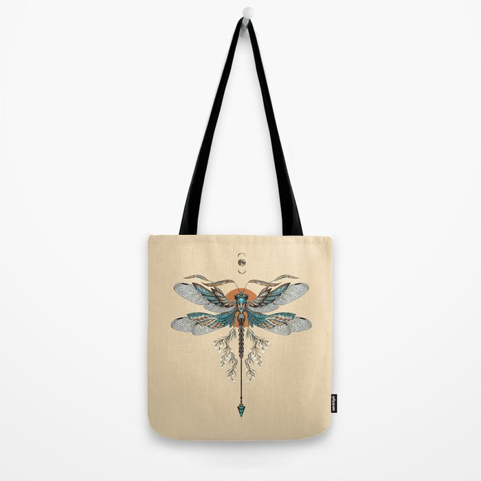 Dragonfly Tattoo Tote Bag