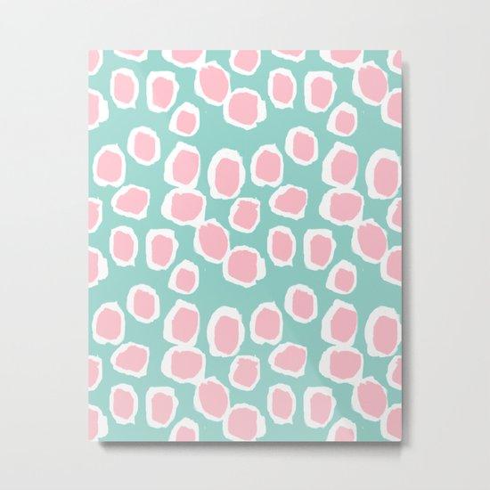 Hayden - abstract trendy gender neutral colorful bright happy dorm college decor pattern print art Metal Print