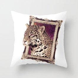 Space Jaguar Throw Pillow