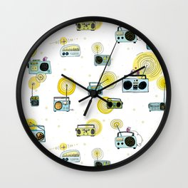 Listen Up! Radio Birds Wall Clock