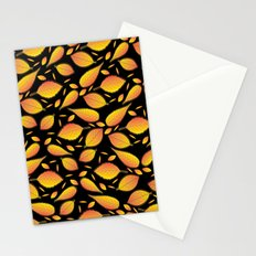 Gold Floral Pattern Stationery Cards