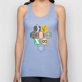 Math in color (white Background) Unisex Tank Top