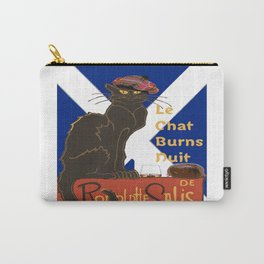 Le Chat Burns Nuit Haggis Dram Scottish Saltire Carry-All Pouch