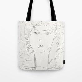Sketch of a pop girl Tote Bag