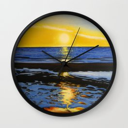 Sunset on the Hudson Bay  Wall Clock