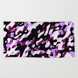 Purple Camo Beach Towel