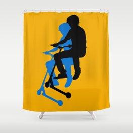 Landing Gears - Stunt Scooter Rider Shower Curtain