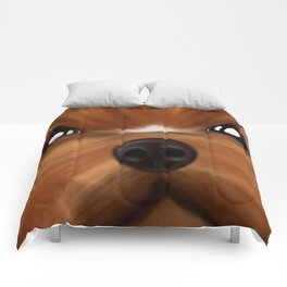 Yorkie face Comforters