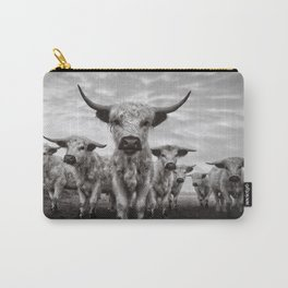 Highland Cattle Mixed Breed Mono Carry-All Pouch