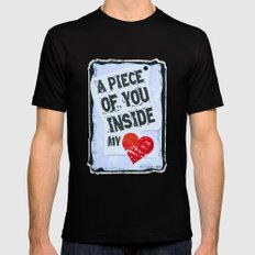 A piece of you inside my heart Black Mens Fitted Tee MEDIUM