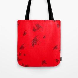 Red pattern Tote Bag