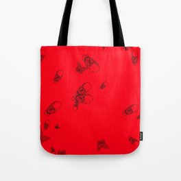Red pattern Tote Bag