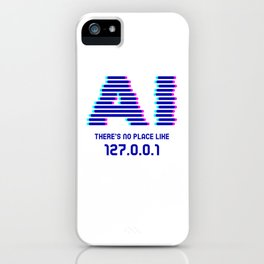Theres No Place Like 127.0.01 Nerd iPhone Case