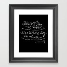 all that is gold Framed Art Print