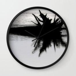 Brazos Bend State Park Tree Stump In Wetland Lake Wall Clock