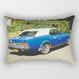 Blue And White Mustang Rectangular Pillow