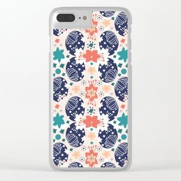 The Pysanky Easter eggs colorful pattern Clear iPhone Case
