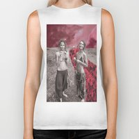 hippy Biker Tanks featuring Hippy Girls X Roses by LittleCarmine