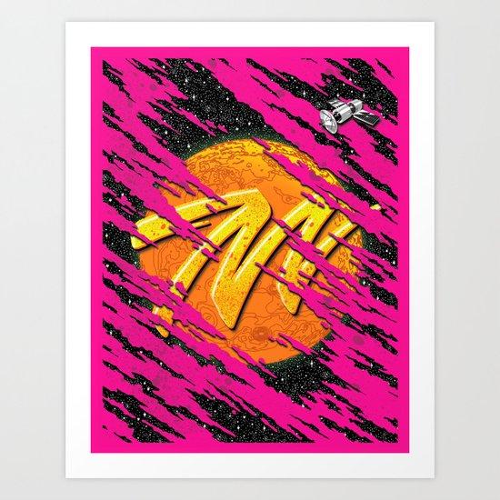 M for Mars  Art Print