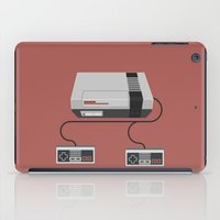 gaming iPad Cases featuring Retro Gaming - NES by minemine