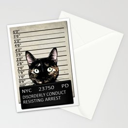 Kitty Mugshot Stationery Cards