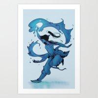 korra Art Prints featuring KORRA by Ciaran