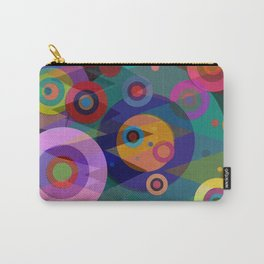 Abstract #507 Triangles & Circles Carry-All Pouch