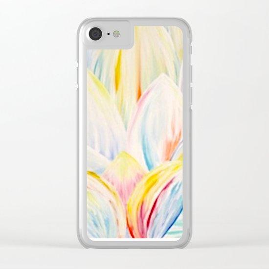 Rainbow Lotus Clear iPhone Case