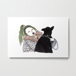 Emilia Farts and dog Metal Print