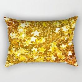 Glittering Golden Stars Rectangular Pillow