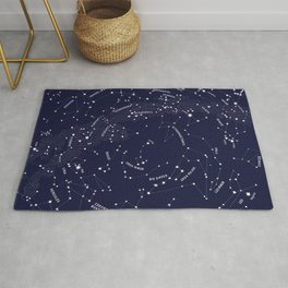 Constellation Map - Indigo Rug