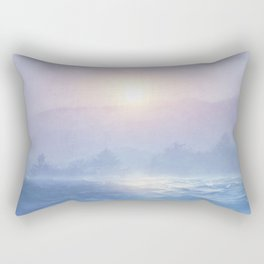 Pastel landscape & sunset Rectangular Pillow