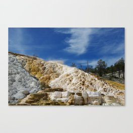 Mammoth Terraces, Yellowstone Canvas Print