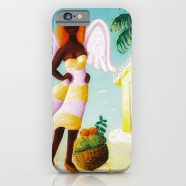African American Masterpiece 'When Opportunity Knocks' by O. Bulman iPhone Case