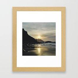 Rough sunset Framed Art Print