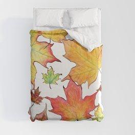 Autumn Maple Leaves Duvet Cover
