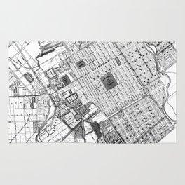 Vintage Map of San Jose California (1886) BW Rug