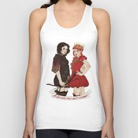arya Tank Tops featuring A Queen & her Knight by Noble Demons