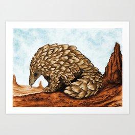 The Golden Pangolin Art Print